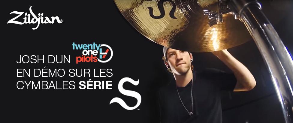 Josh Dun en démo sur les cymbales série S
