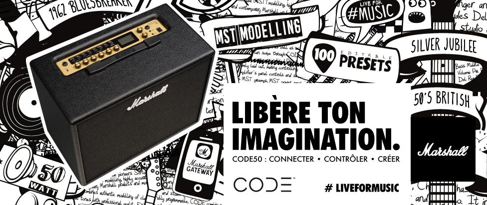 Marshall CODE50 : libérez votre imagination !