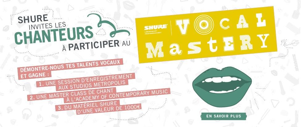 Concours de chant Shure Voc Mastery
