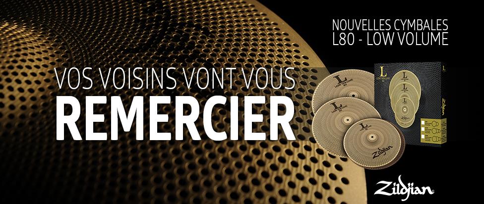 cymbales faible volume de Zildjian