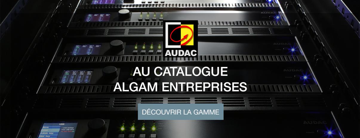 Arrivée au catalogue des solutions audio Audac