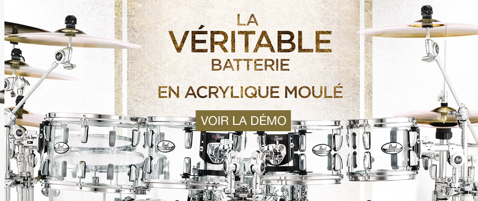 La batterie Pearl Crystal Beat est disponible