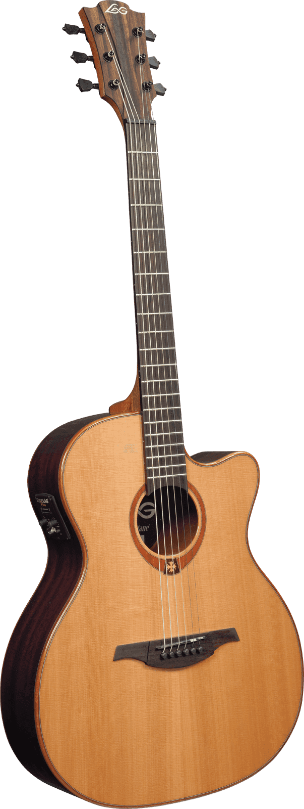 lag tramontane t100ace stage auditorium cutaway acoustic electric natural guitar ebay. Black Bedroom Furniture Sets. Home Design Ideas