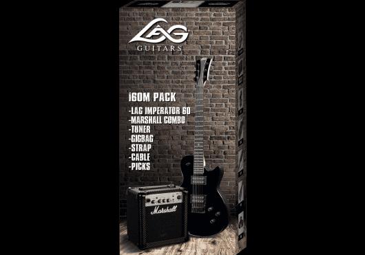 Lâg Guitares Electriques PACKI60M-BLK