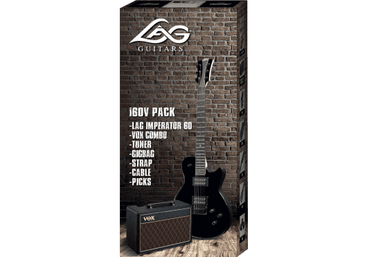 Lâg Guitares Electriques PACKI60V-BLK