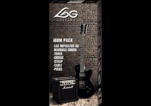 Lâg Guitares Electriques PACKI66M-BLK