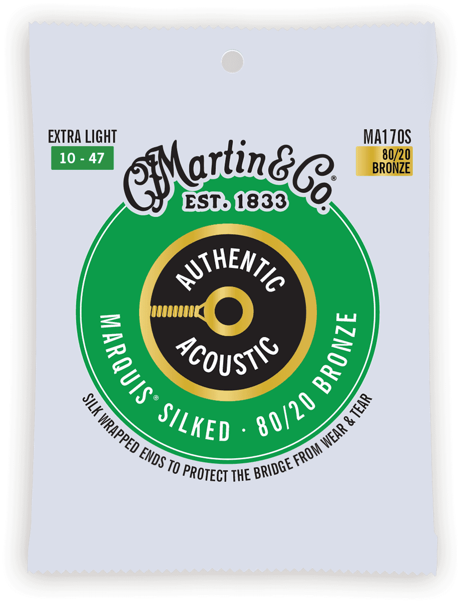 Martin Authentic Silked, Extra Light, 80/20 MA170S