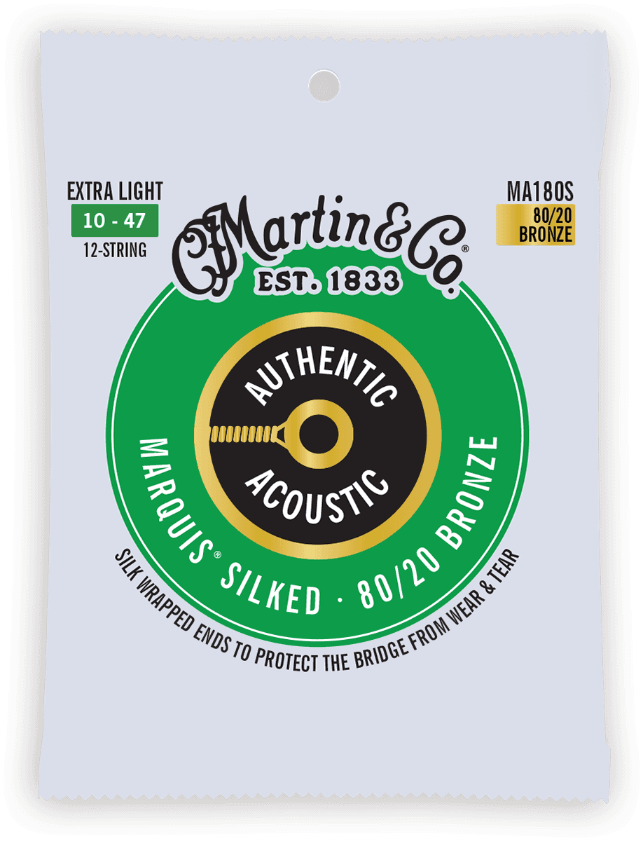 Martin Authentic Silked, 12c Extra Light, 80/20 MA180S