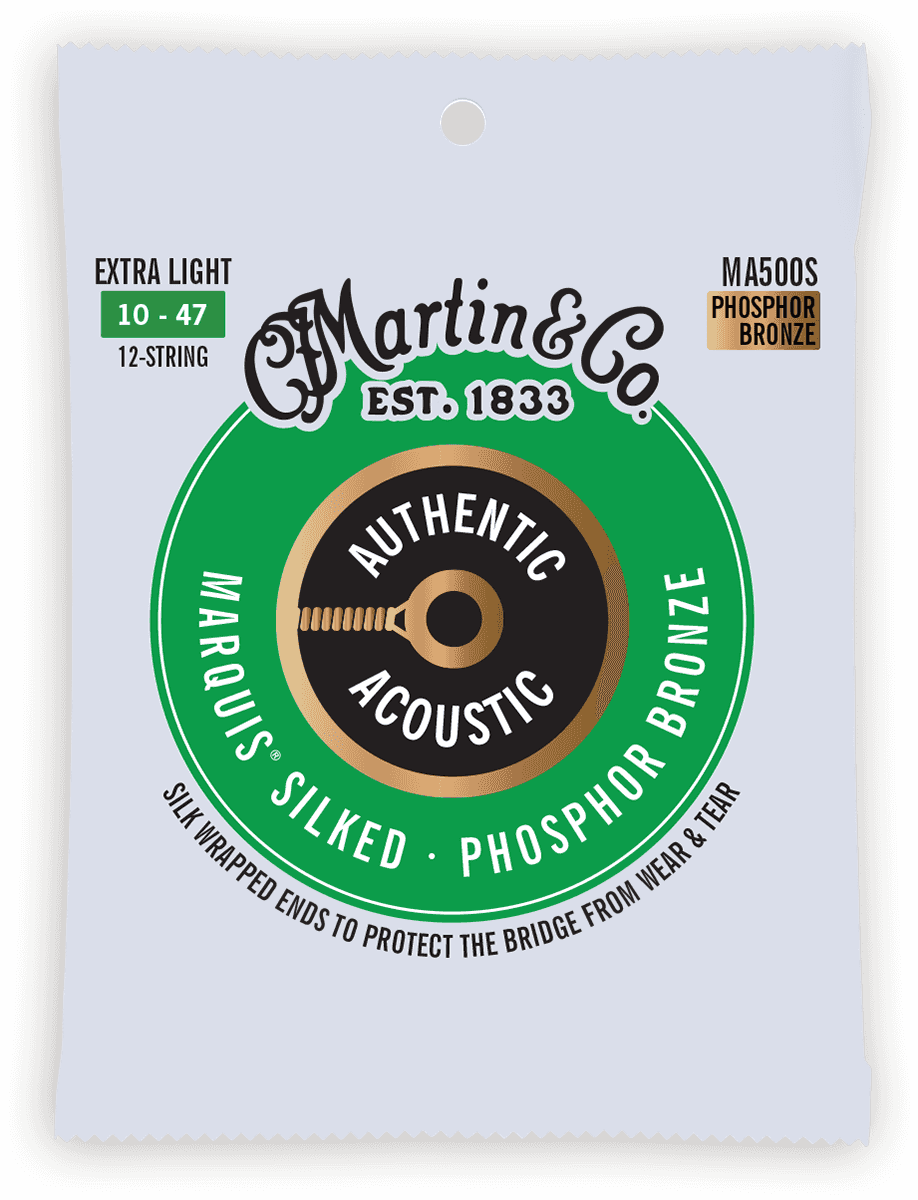Martin Authentic Silked, 12c Extra Light, 92/8 MA500S